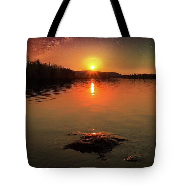 Where Heaven Touches The Earth Tote Bag by Rose-Marie Karlsen