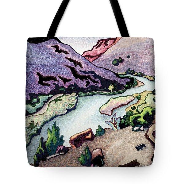 Where I Cross The Rio Grande Tote Bag by Dale Beckman