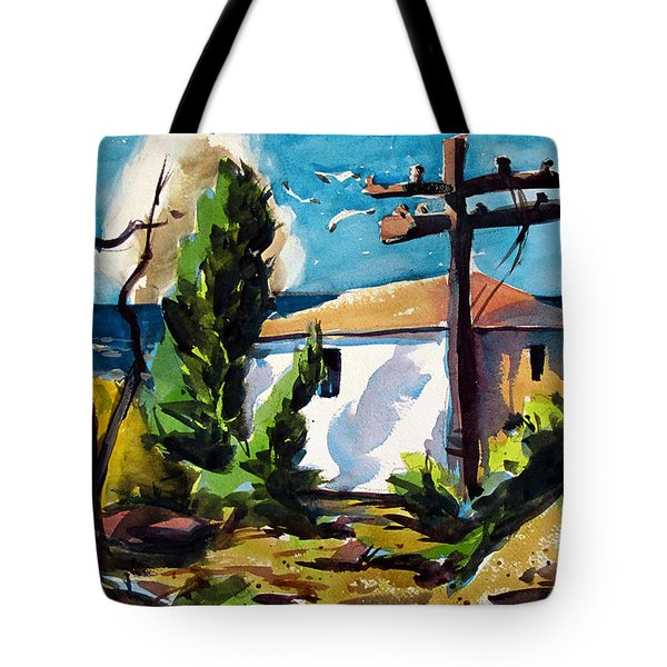 Tote Bag featuring the painting Where I Will Be Double Matted And Plexi-glass Metal Framed by Charlie Spear