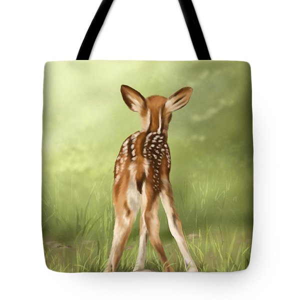 Tote Bag featuring the painting Where Is My Mom? by Veronica Minozzi