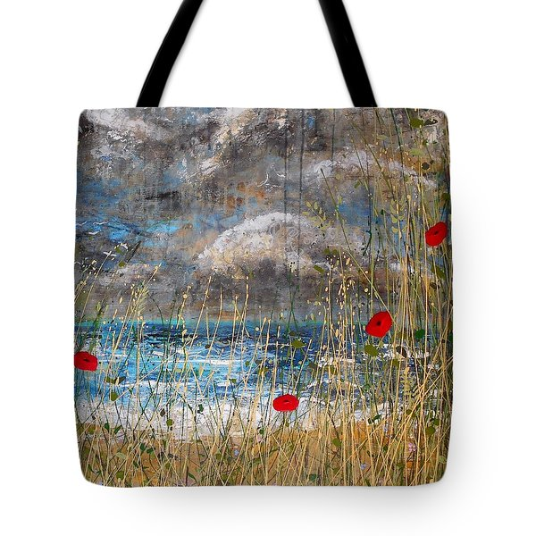 Where Poppies Blow Detail Tote Bag