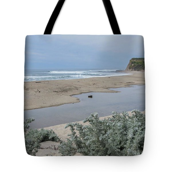 Where Scott Creek Meets The Ocean Tote Bag by Mark Barclay
