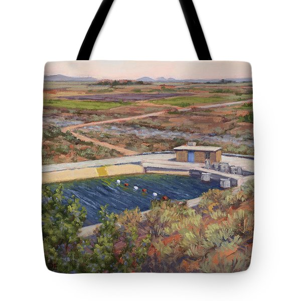 Where The Aqueduct Goes Underground Tote Bag