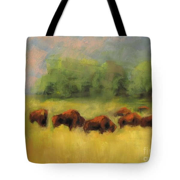 Where The Buffalo Roam Tote Bag by Frances Marino