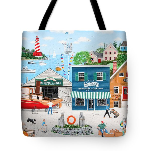 Where The Buoys Are Tote Bag by Wilfrido Limvalencia