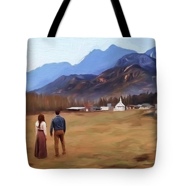 Where The Heart Is - Landscape Art Tote Bag by Jordan Blackstone