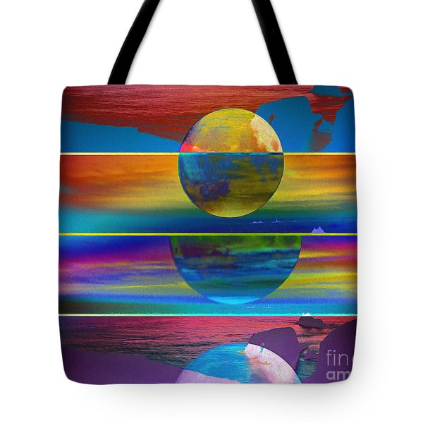 Where The Land Ends Tote Bag
