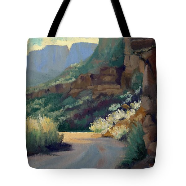 Where The Road Bends Tote Bag