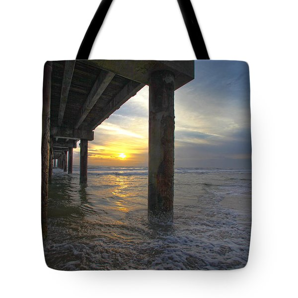 Where The Sand Meets The Surf Tote Bag by Robert Och