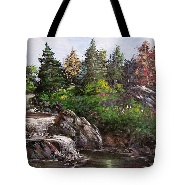 Where The Water Flows Tote Bag by Megan Walsh