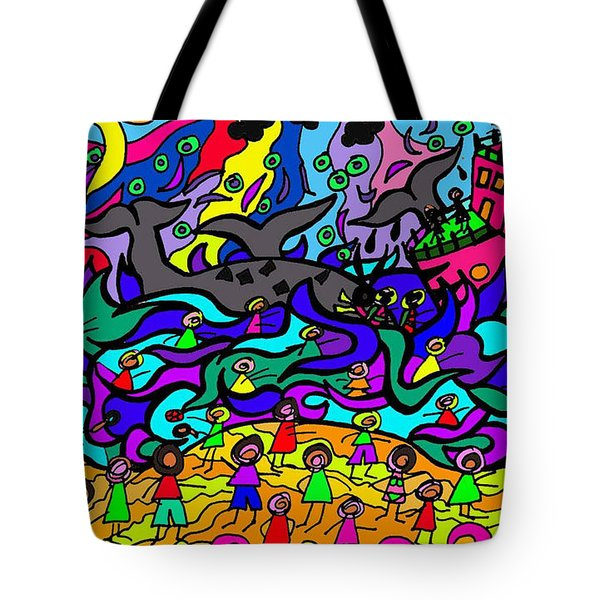 Where The Whales Play Tote Bag
