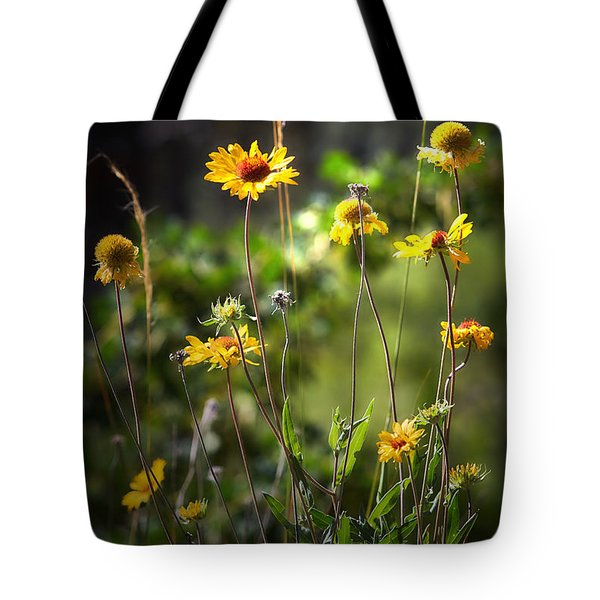 Where The Wildflower Grows Tote Bag by Loni Collins