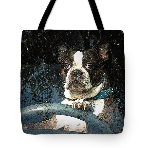 Tote Bag featuring the photograph Where To James by Kate Word