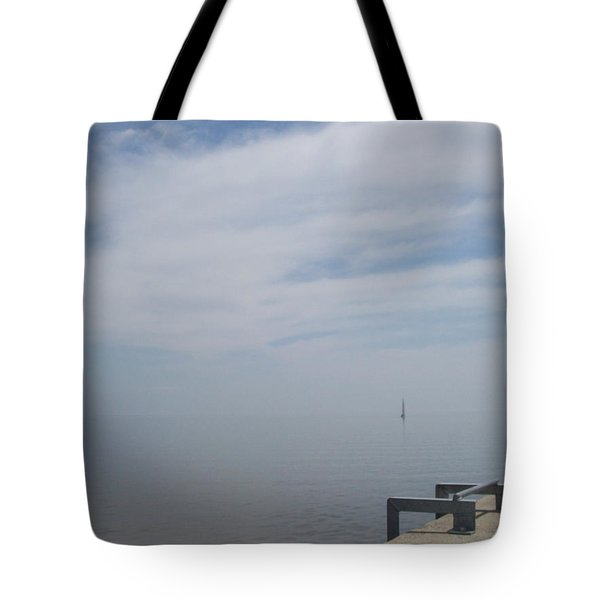 Tote Bag featuring the photograph Where Water Meets Sky by Mary Mikawoz