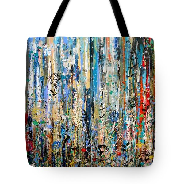 Where Wild Roses Bloom - Large Work Tote Bag