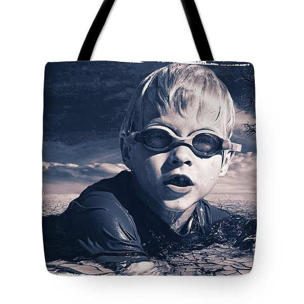 Tote Bag featuring the digital art Where Will He Swim Tomorrow by Chris Armytage