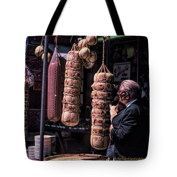 Tote Bag featuring the photograph Which One Should We Share? by Richard Goldman
