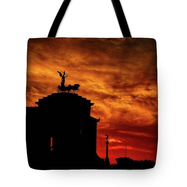 While Rome Burns Tote Bag