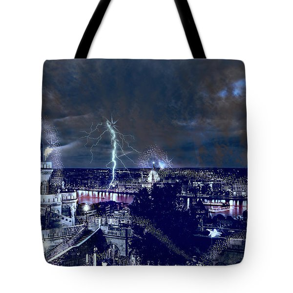 Whimsical Budapest Tote Bag