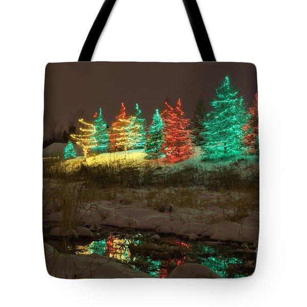 Whimsical Christmas Lights Tote Bag