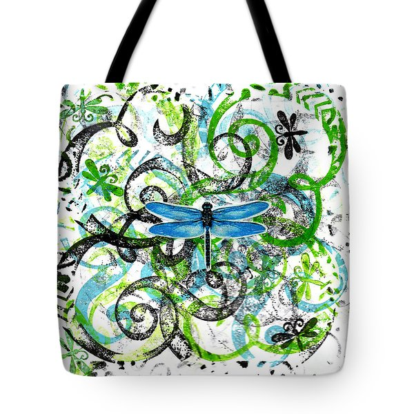 Whimsical Dragonflies Tote Bag
