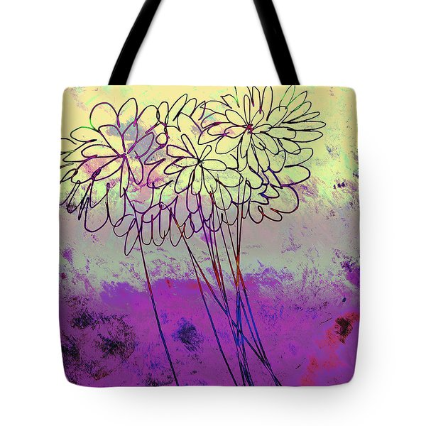 Whimsical Flower Bouquet Tote Bag by Ann Powell