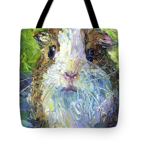 Whimsical Guinea Pig Painting Print Tote Bag by Svetlana Novikova