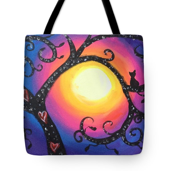 Whimsical Tree At Sunset Tote Bag by Diana Riukas