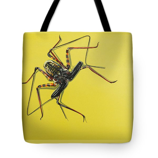 Tote Bag featuring the painting Whip Scorpion by Jude Labuszewski