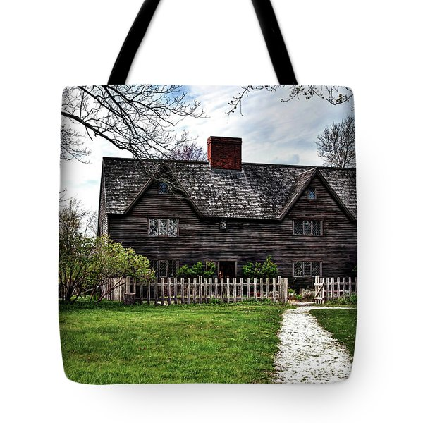 Tote Bag featuring the photograph The John Whipple House In Ipswich by Wayne Marshall Chase