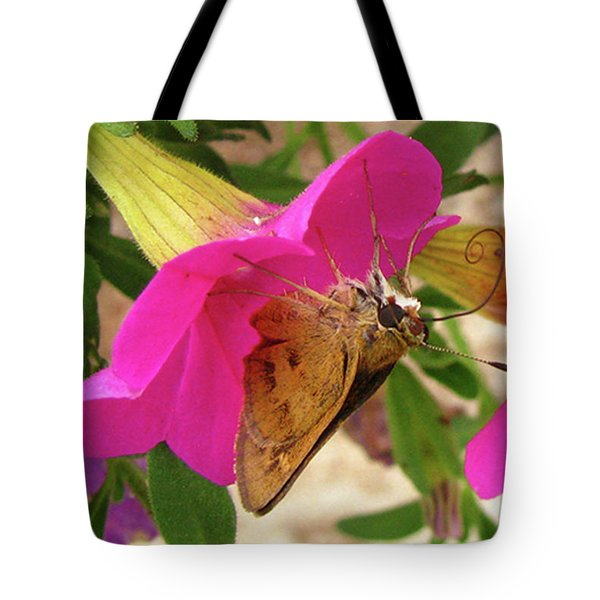 Whirl-about Skipper Butterfly Tote Bag by Donna Brown