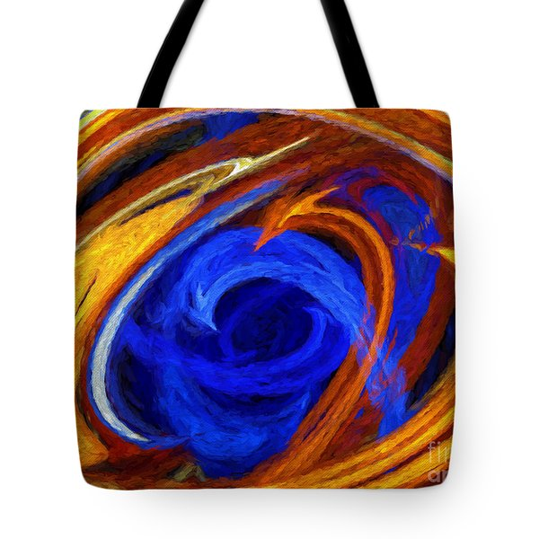 Tote Bag featuring the digital art Whirlpool Abstract by Andee Design
