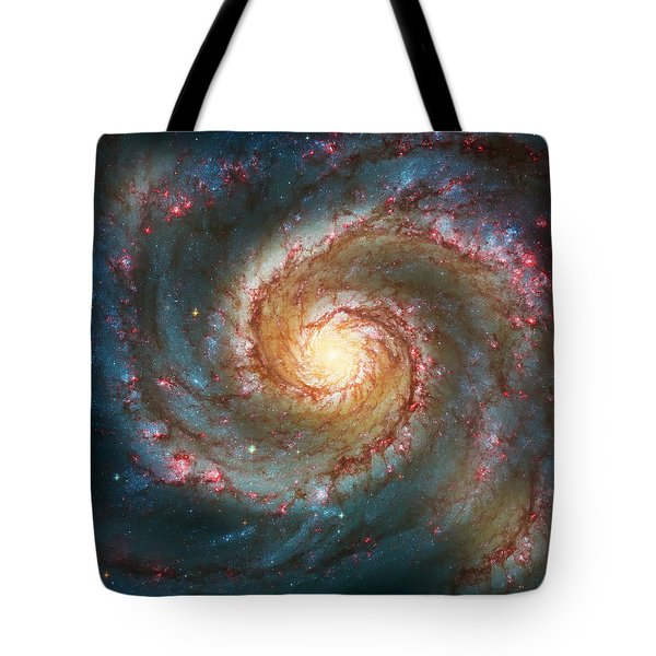 Whirlpool Galaxy  Tote Bag by Jennifer Rondinelli Reilly - Fine Art Photography