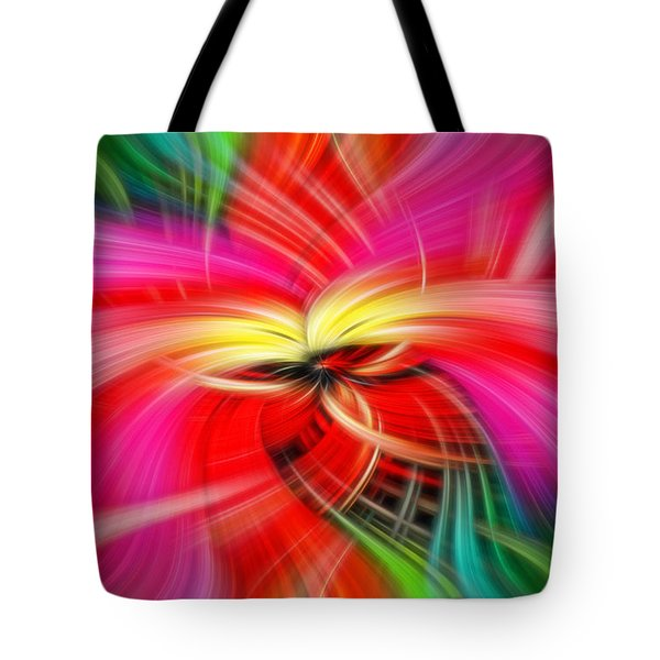 Whirlwind Of Colors Tote Bag by Sue Melvin