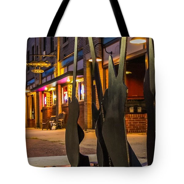 Whiskerz And Guitar Icons Tote Bag