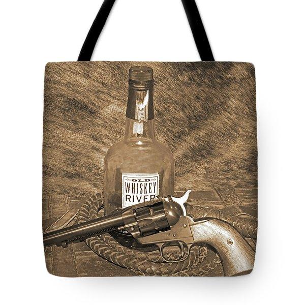 Whiskey And A Gun Tote Bag