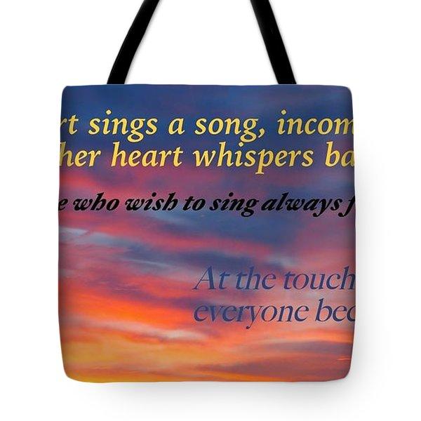 Whisper Tote Bag by David Norman