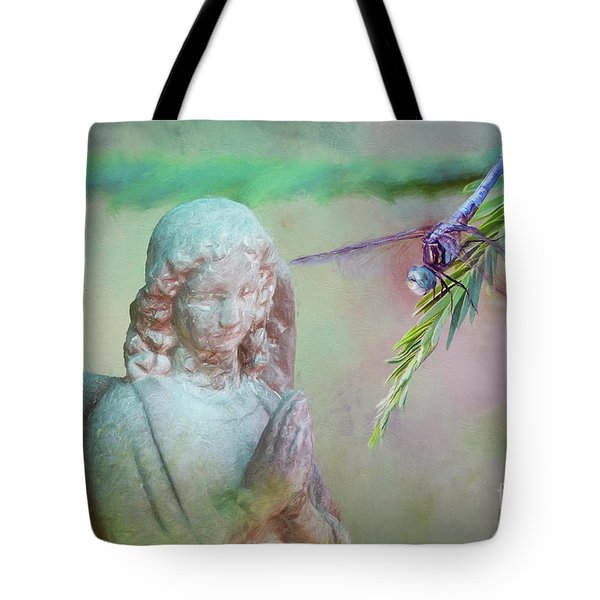 Tote Bag featuring the photograph Whisper Of Angel Wings by Bonnie Barry