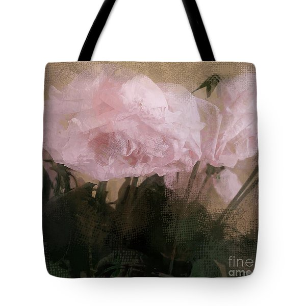 Tote Bag featuring the digital art Whisper Of Pink Peonies by Alexis Rotella