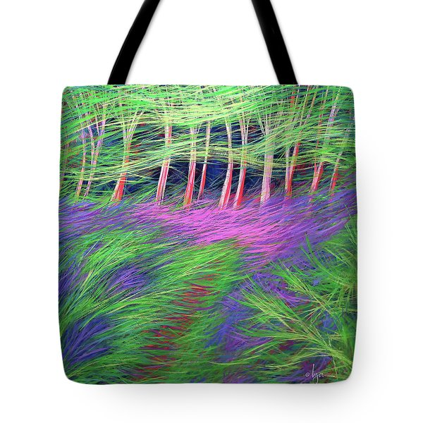 Tote Bag featuring the painting Whisper The Wind by Angela Treat Lyon