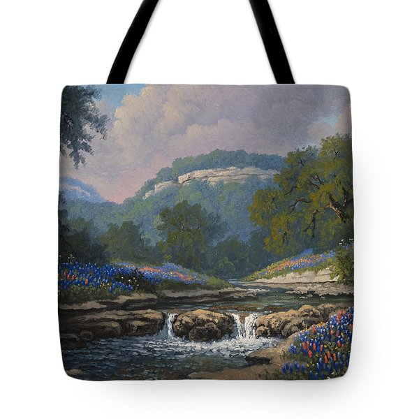 Tote Bag featuring the painting Whispering Creek by Kyle Wood