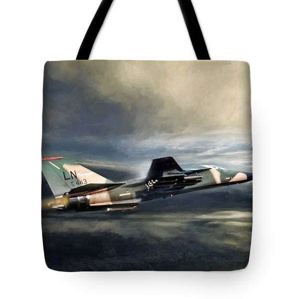 Whispering Death F-111 Tote Bag by Peter Chilelli