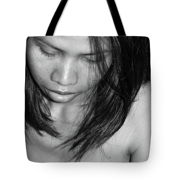 Tote Bag featuring the photograph Whispering Hair by Jeremy Holton