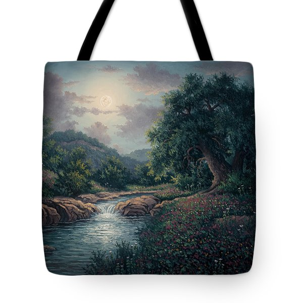 Tote Bag featuring the painting Whispering Night by Kyle Wood
