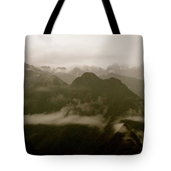 Whispers In The Andes Mountains Tote Bag