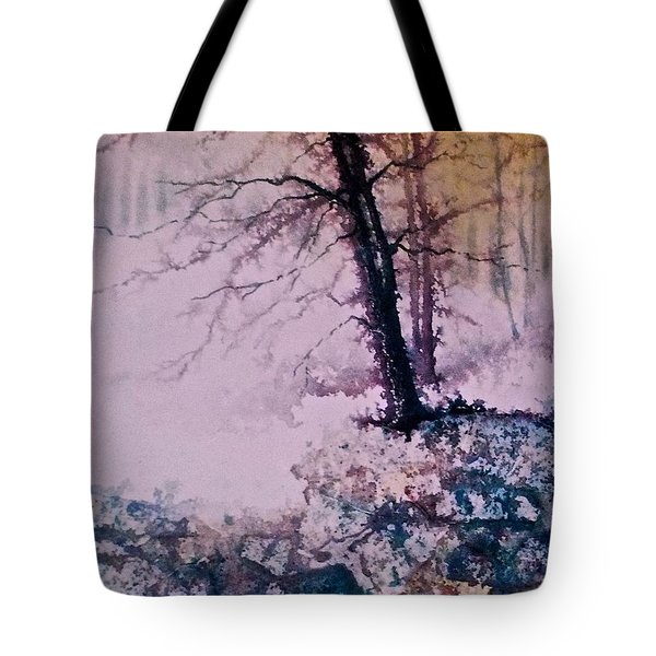 Tote Bag featuring the painting Whispers In The Fog  Partii by Carolyn Rosenberger