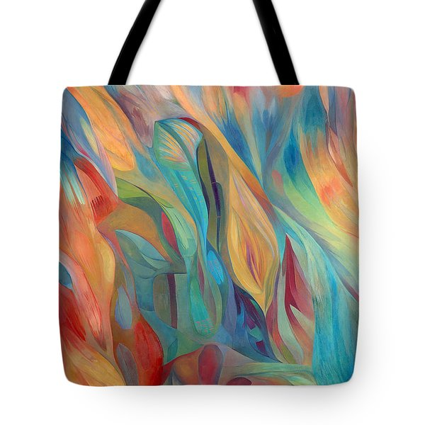 Tote Bag featuring the painting Whispers Of Immortality 1 by Linda Cull