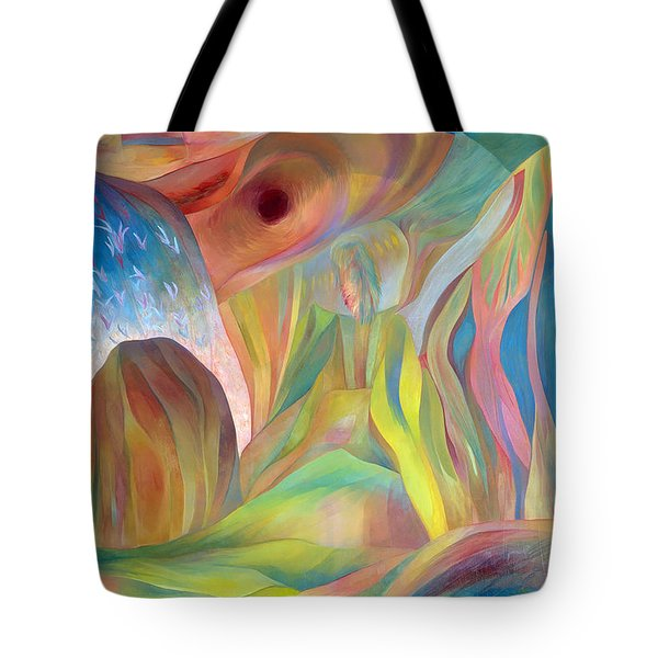 Tote Bag featuring the painting Whispers Of Immortality 2 by Linda Cull
