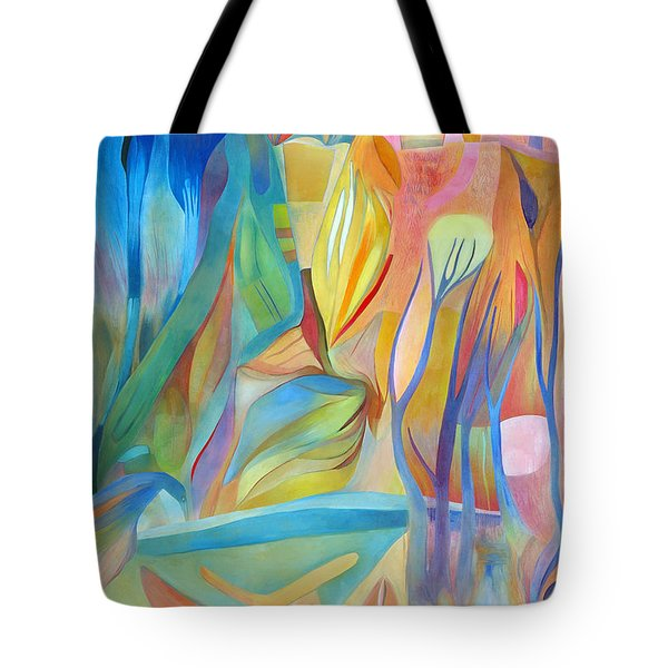 Tote Bag featuring the painting Whispers Of Immortality 3 by Linda Cull