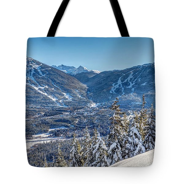Whistler Blackcomb Winter Wonderland Tote Bag